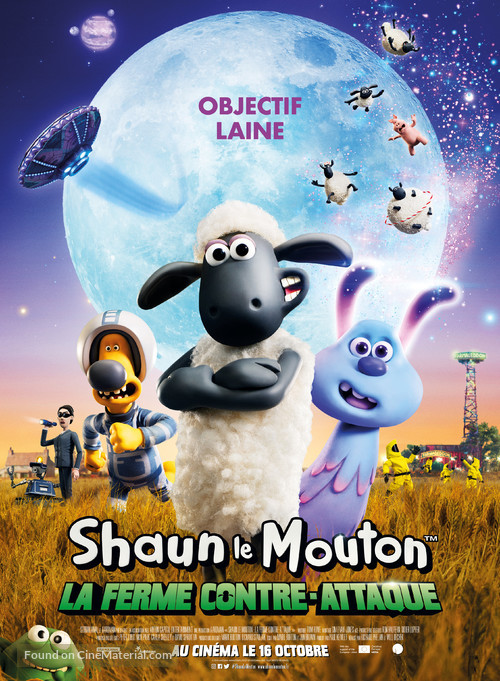 A Shaun the Sheep Movie: Farmageddon - French Movie Poster