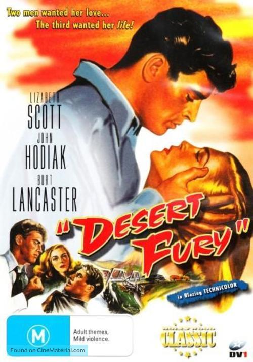 Desert Fury - Australian DVD movie cover