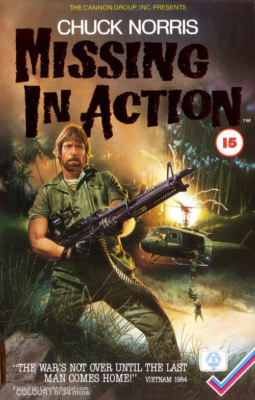 Missing in Action - British Movie Cover