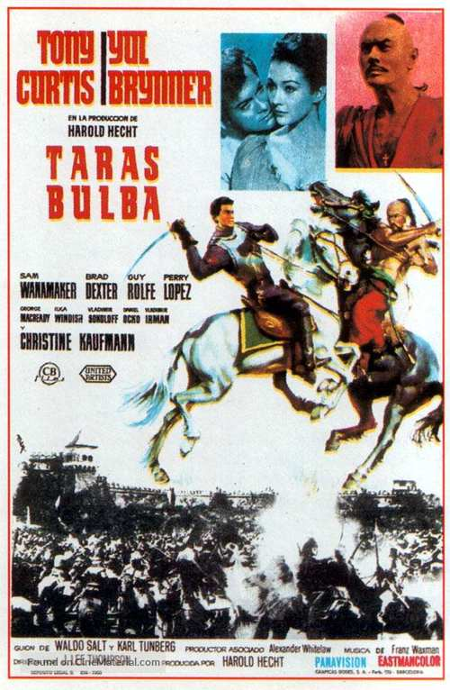 Taras Bulba - Spanish Movie Poster