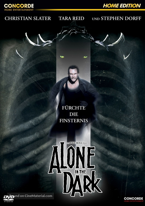 Alone in the Dark - German DVD movie cover