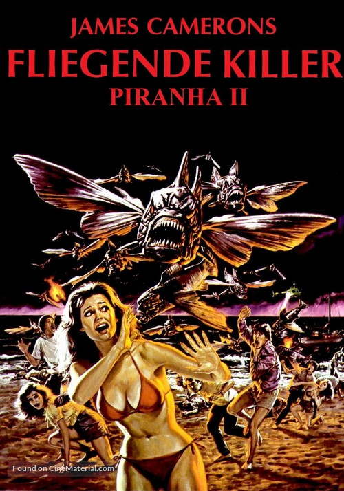 Piranha Part Two: The Spawning - German Movie Cover