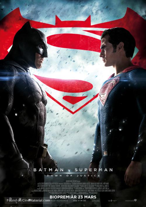 Batman v Superman: Dawn of Justice - Swedish Movie Poster