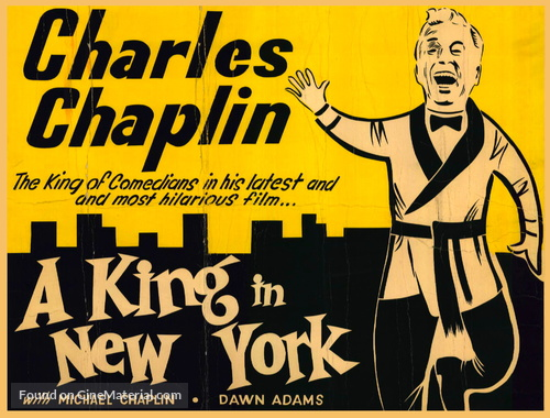 A King in New York - Movie Poster