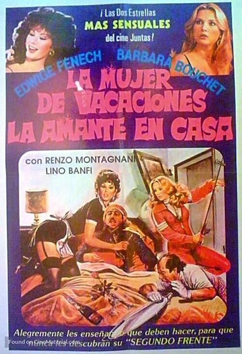 La moglie in vacanza... l'amante in città - Argentinian Movie Poster