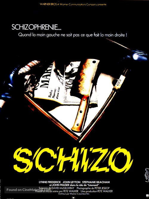 Schizo - French Movie Poster