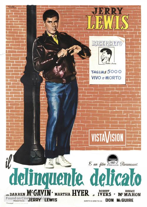 The Delicate Delinquent - Italian Movie Poster