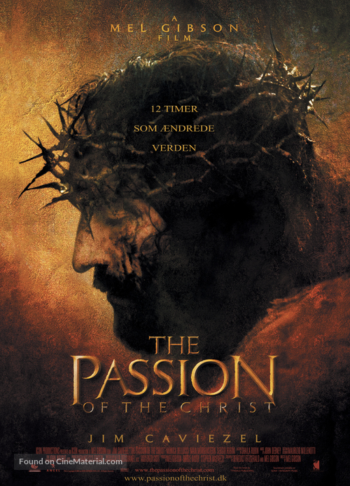 The Passion of the Christ - Danish Movie Poster