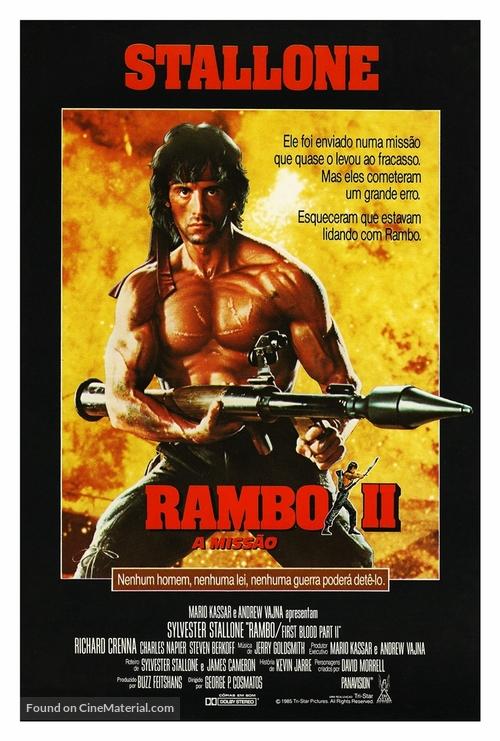 Rambo: First Blood Part II - Brazilian Movie Poster