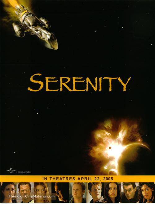Serenity - Advance movie poster
