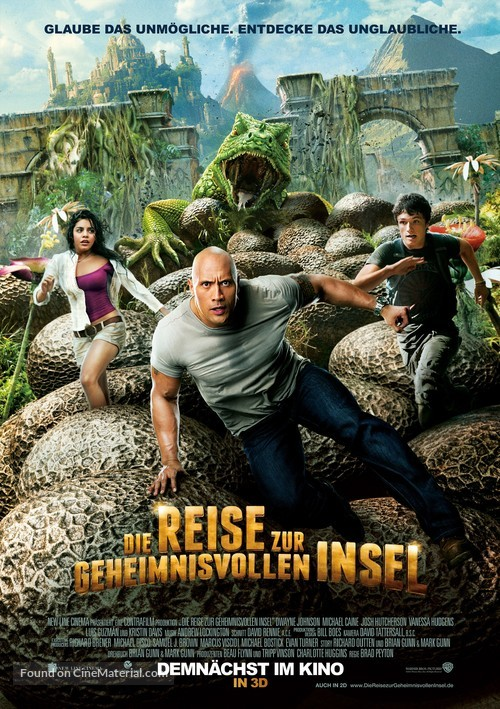 Journey 2: The Mysterious Island - German Movie Poster