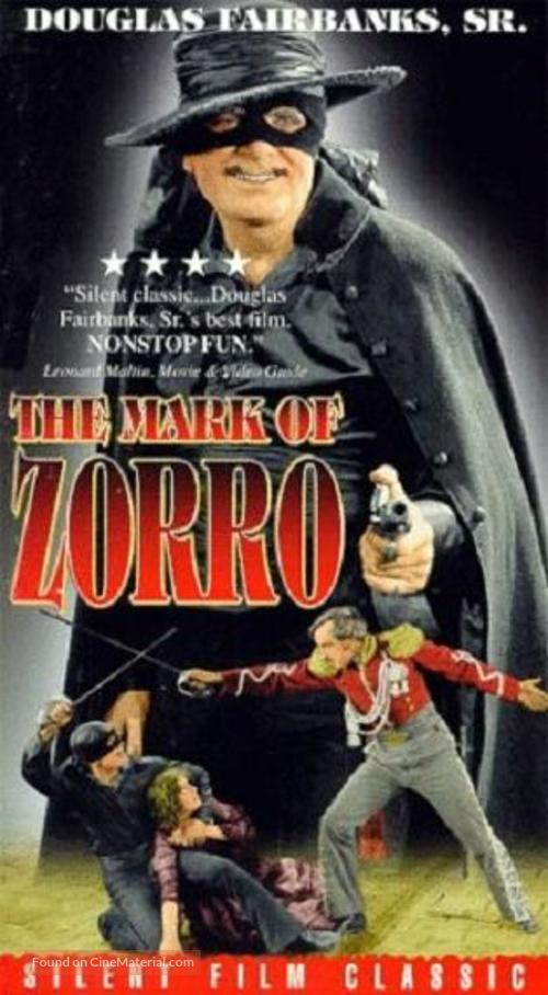 The Mark of Zorro - VHS movie cover