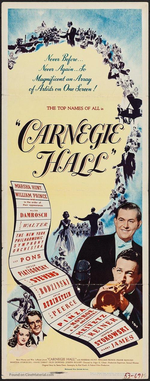 Carnegie Hall - Movie Poster