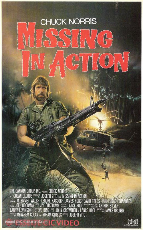 Missing in Action - Dutch Movie Cover