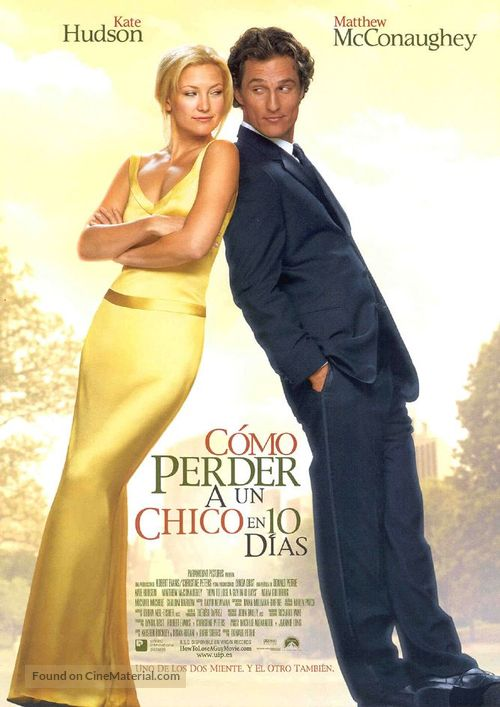 How to Lose a Guy in 10 Days - Spanish Movie Poster