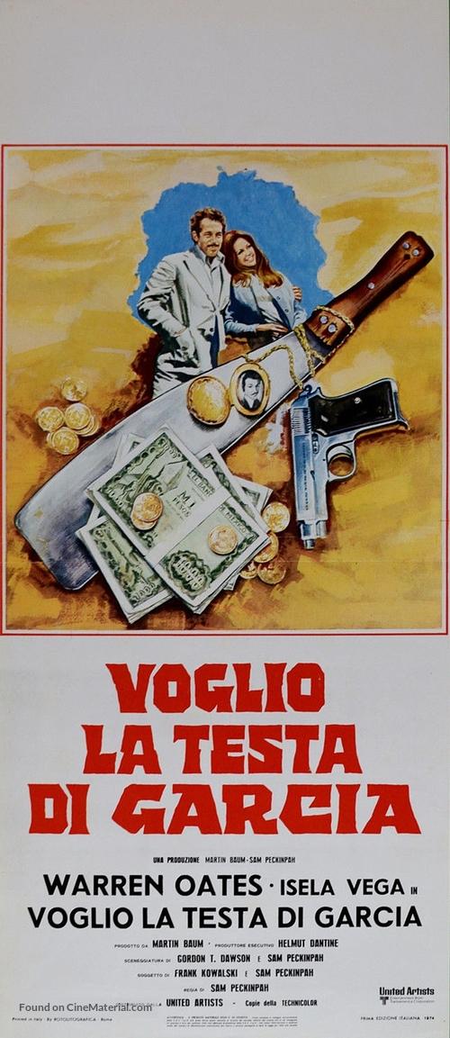 Bring Me the Head of Alfredo Garcia - Italian Movie Poster