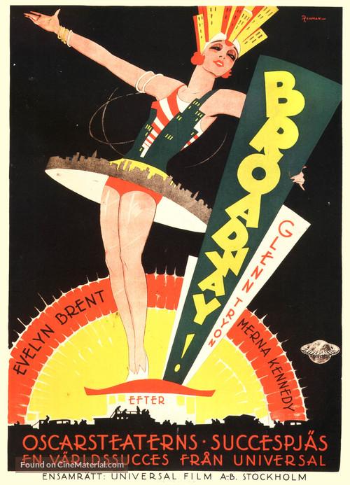 Broadway - Swedish Movie Poster