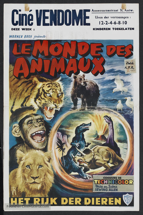 The Animal World - Belgian Movie Poster