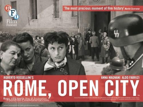 Roma, città aperta - British Re-release poster