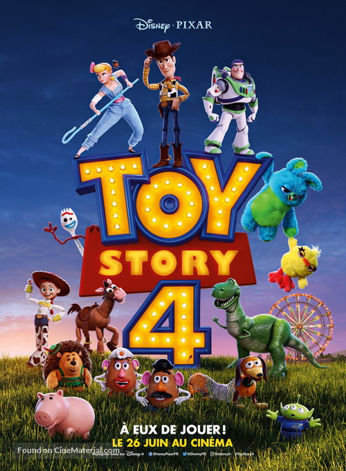 Toy Story 4 - French Movie Poster