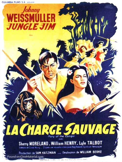 Fury of the Congo - French Movie Poster