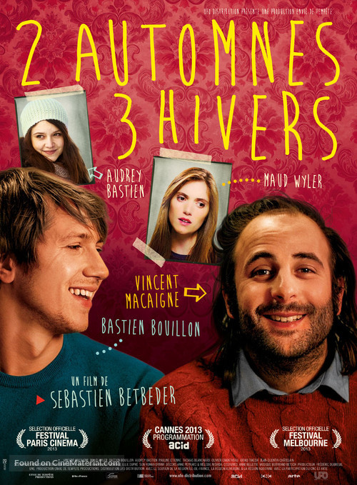 2 automnes 3 hivers - French Movie Poster
