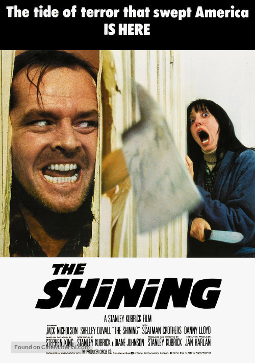 The Shining - British Movie Poster