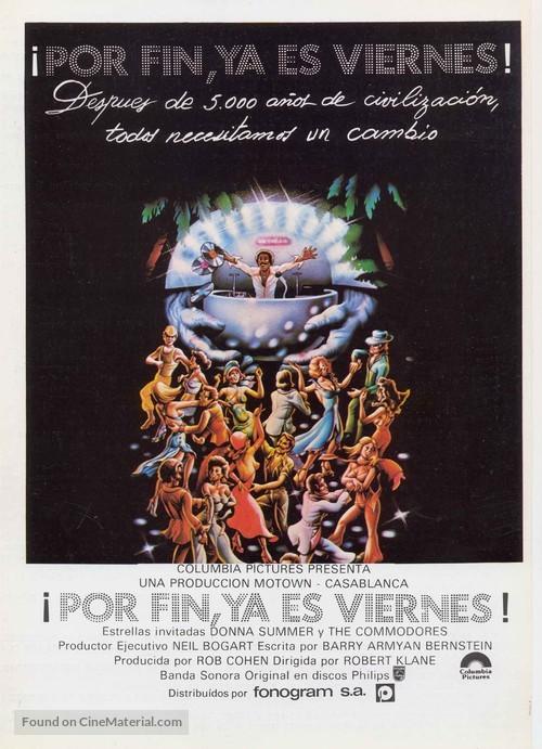Thank God It's Friday - Spanish Movie Poster