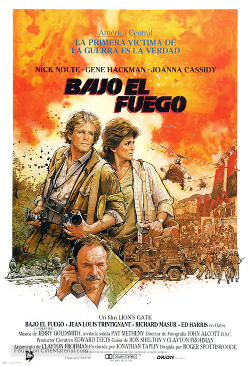 Under Fire - Spanish Movie Poster