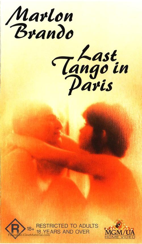 Ultimo tango a Parigi - Australian VHS movie cover