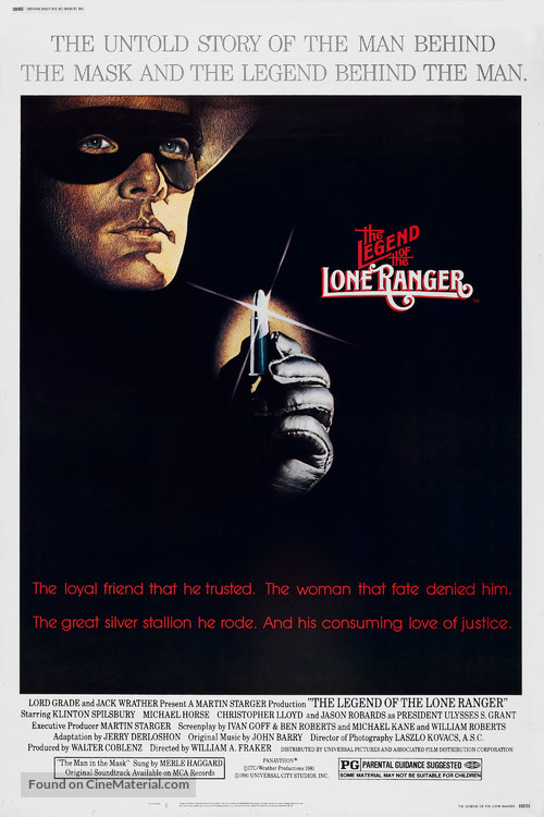 The Legend of the Lone Ranger - Movie Poster