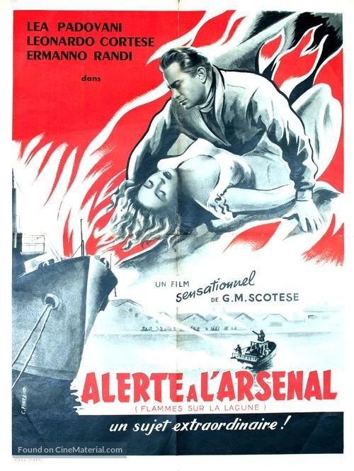 Fiamme sulla laguna - French Movie Poster
