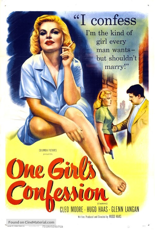 One Girl's Confession - Movie Poster