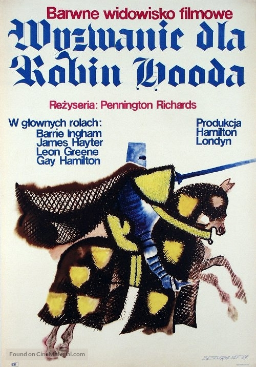 A Challenge for Robin Hood - Polish Movie Poster