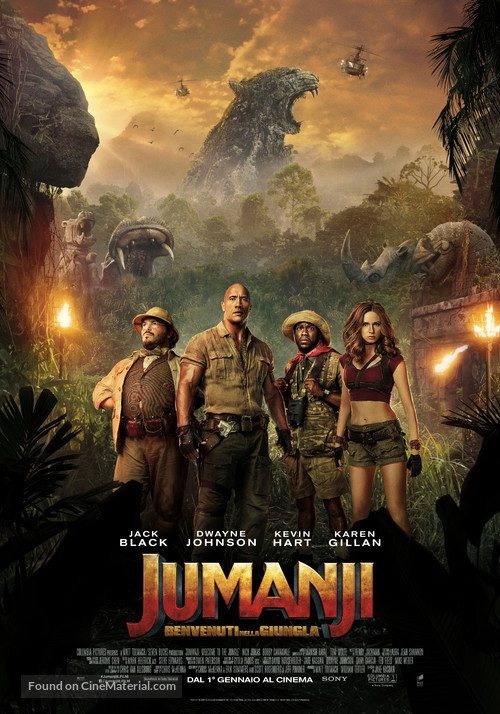 Jumanji: Welcome to the Jungle - Italian Movie Poster