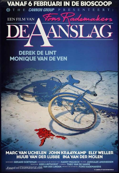 Aanslag, De - Dutch Movie Poster