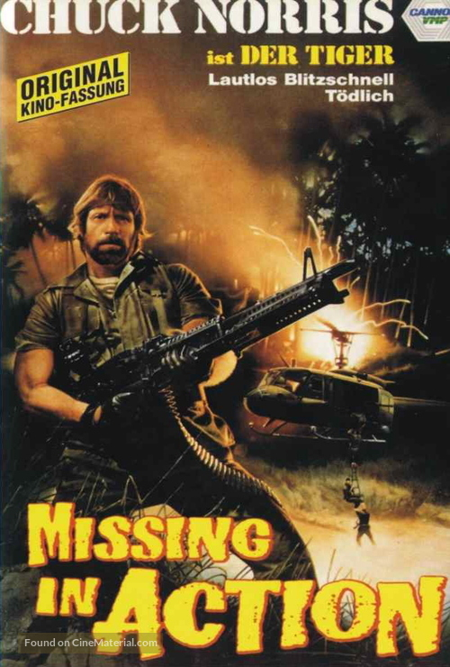 Missing in Action - German Movie Cover
