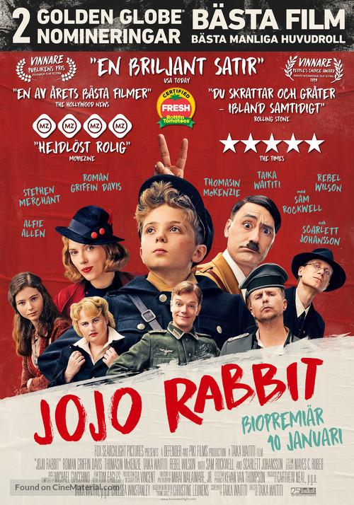 Jojo Rabbit - Swedish Movie Poster