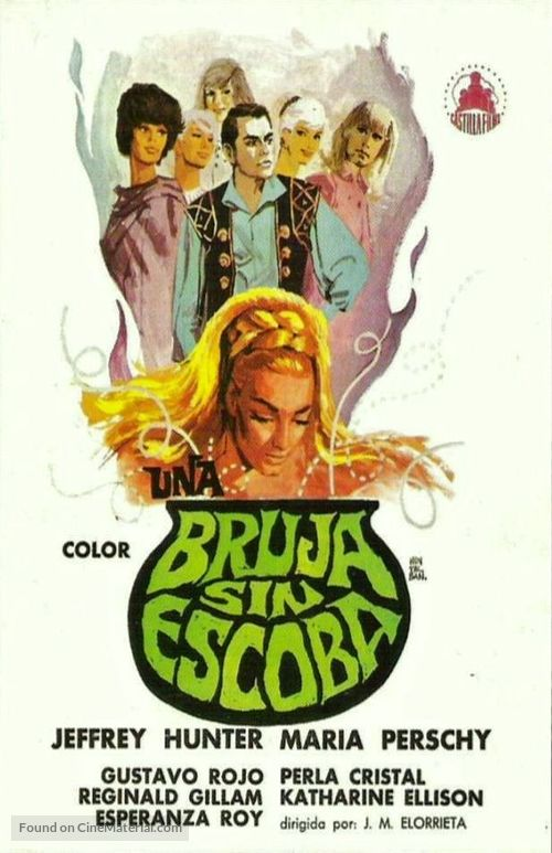 A Witch Without a Broom - Spanish Movie Poster