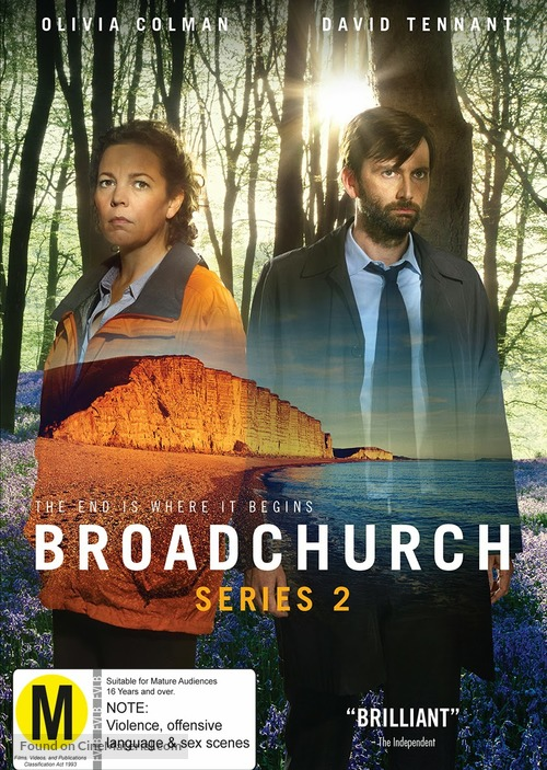 """""""Broadchurch"""" - New Zealand DVD movie cover"""