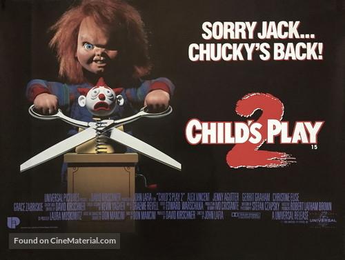 Child's Play 2 - British Movie Poster