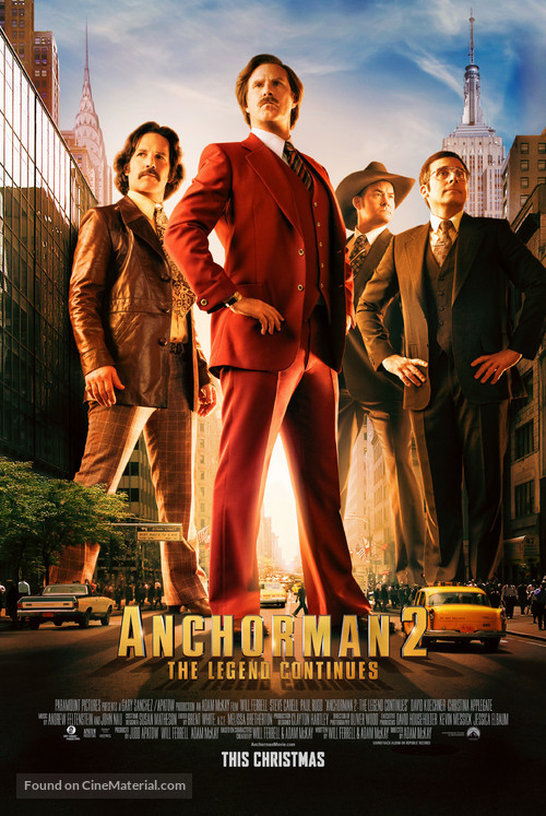 Anchorman 2: The Legend Continues - Movie Poster