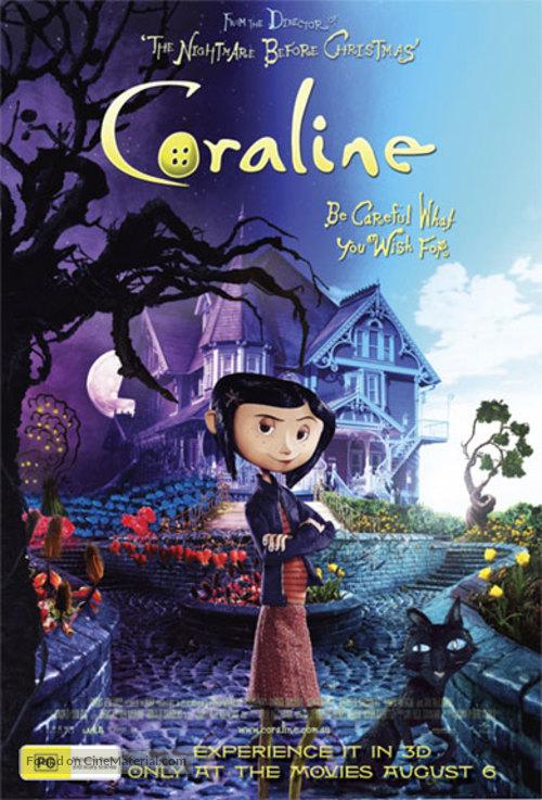 Coraline - Australian Movie Poster