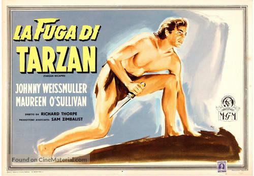 Tarzan Escapes - Italian Movie Poster