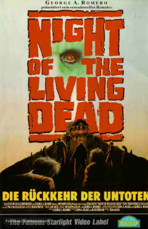 Night of the Living Dead - German VHS movie cover