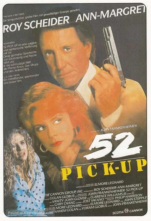 52 Pick-Up - German Movie Poster