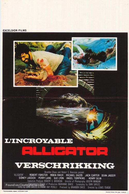 Alligator - Belgian Movie Poster