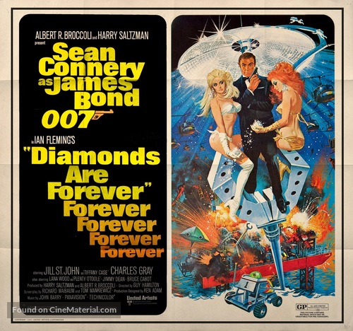 Diamonds Are Forever - Movie Poster