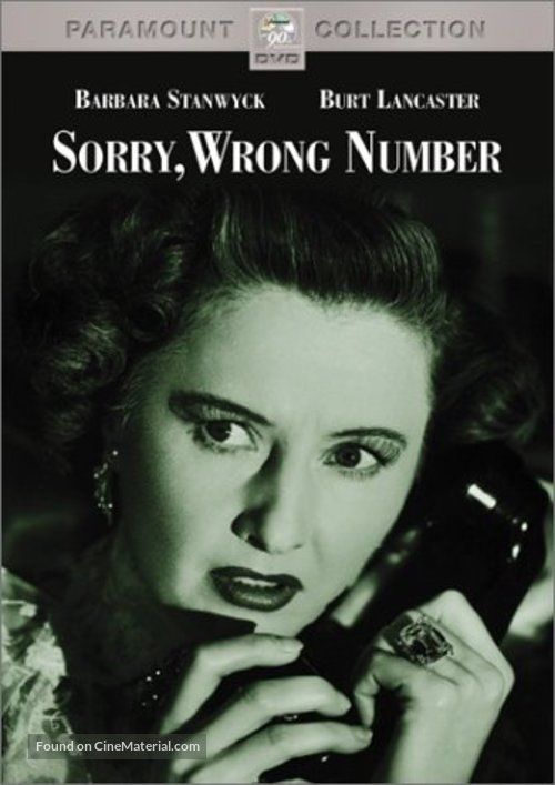 Sorry, Wrong Number - DVD movie cover