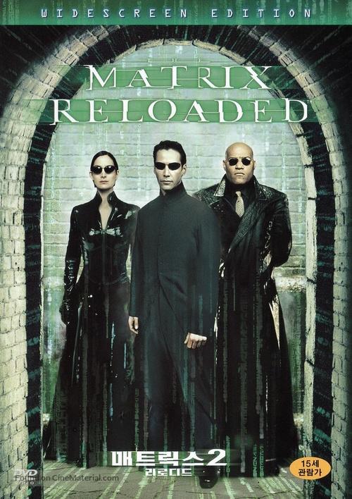 The Matrix Reloaded - South Korean DVD movie cover